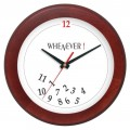 Wooden clock - mahogany